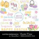Easter Time Embellishment Pack-$2.49 (Lasting Impressions)