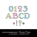 Easter Time Alphabet Pack-$0.49 (Lasting Impressions)