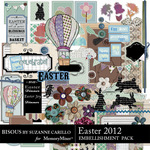 Easter 2012 Embellishment Pack-$3.00 (Bisous By Suzanne Carillo)