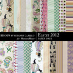 Easter 2012 Paper Pack-$2.10 (Bisous By Suzanne Carillo)