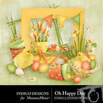 Oh Happy Day ID Embellishment Pack-$1.50 (Indigo Designs)
