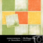 Oh Happy Day ID Paper Pack-$2.00 (Indigo Designs)