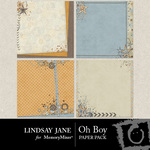 Oh Boy Deco Paper Pack-$1.99 (Lindsay Jane)