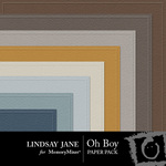 Oh Boy Embossed Paper Pack-$1.99 (Lindsay Jane)