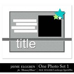 Page Builder Landscape QuickMix One Photo Set 1-$2.25 (Jayme Elggren)