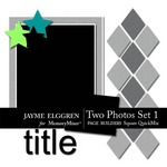 Page Builder Square QuickMix Two Photos Set 1-$2.25 (Jayme Elggren)