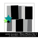 Page Builder Square QuickMix Three Photos Set 1-$2.25 (Jayme Elggren)