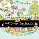 One Fine Day Embellishment Pack-$3.49 (Ettes and Company by Fayette)