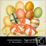Eggs and Ribbons Embellishment Pack-$1.00 (Indigo Designs)