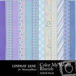 Color My World Blueish Paper Pack-$3.49 (Lindsay Jane)