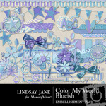 Color My World Blueish Embellishment Pack-$3.49 (Lindsay Jane)