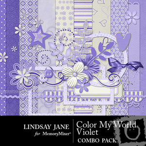 Color my world violet combo medium