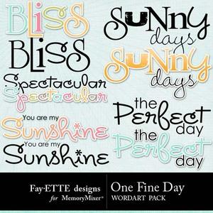 One fine day wordart 1 medium