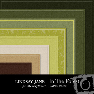 In the forest embossed pp medium