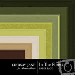 In the Forest Embossed Paper Pack-$1.00 (Lindsay Jane)
