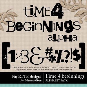 Time 4 beginnings alpha 1 medium