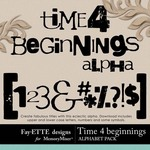 Time 4 Beginnings Alphabet Pack-$0.99 (Ettes and Company by Fayette)
