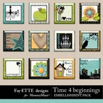 Time 4 Beginnings Flair Pack-$1.99 (Ettes and Company by Fayette)