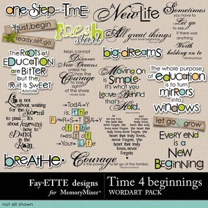 Time 4 beginnings wordart 1 medium