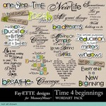 Time 4 Beginnings WordArt Pack-$2.99 (Fayette Designs)