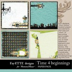 Time 4 Beginnings Short Stack Paper Pack-$2.49 (Ettes and Company by Fayette)