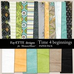Time 4 Beginnings Paper Pack-$3.99 (Ettes and Company by Fayette)