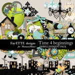 Time 4 Beginnings Embellishment Pack-$3.49 (Ettes and Company by Fayette)