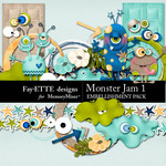 Monster Jam Embellishment Pack 1-$2.99 (Ettes and Company by Fayette)