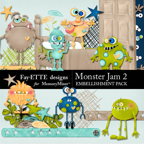 bed for boys jam embellishment pack 2 scrapbook page design 10229