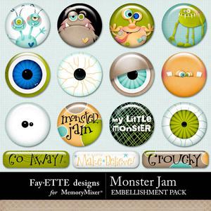 Monster jam flairs 1 medium