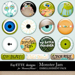 Monster Jam Flair Pack-$1.99 (Ettes and Company by Fayette)