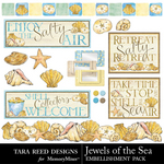 Jewels of the Sea Embellishment Pack-$2.49 (Tara Reed Designs)
