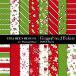 Gingerbread Baker Paper Pack-$1.75 (Tara Reed Designs)