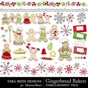 Gingerbread baker emb medium