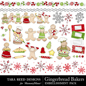 Gingerbread baker emb medium