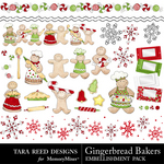 Gingerbread Baker Embellishment Pack-$1.25 (Tara Reed Designs)