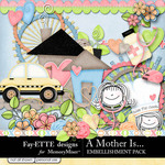 A Mother Is Embellishment Pack-$3.99 (Ettes and Company by Fayette)