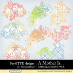A Mother Is Scatters Embellishment Pack-$2.49 (Ettes and Company by Fayette)