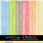 A Mother Is Textured Paper Pack-$2.49 (Ettes and Company by Fayette)