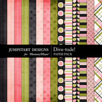 Diva-tude Paper Pack-$3.49 (Jumpstart Designs)