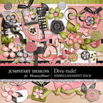 Diva-tude Embellishment Pack-$3.49 (Jumpstart Designs)