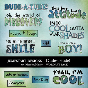 Dude a tude wordart medium