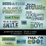 Dude a tude wordart small