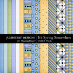 Its Spring Somewhere Paper Pack-$3.49 (Jumpstart Designs)