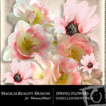 Spring Flowers Embellish Pack-$1.99 (MagicalReality Designs)