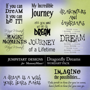 Dragonfly dreams wordart medium