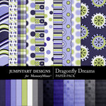 Dragonfly Dreams Paper Pack-$3.99 (Jumpstart Designs)