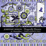 Dragonfly Dreams Embellishment Pack-$2.99 (Jumpstart Designs)