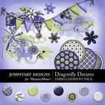 Dragonfly Dreams Add-On Embellishment Pack-$2.99 (Jumpstart Designs)