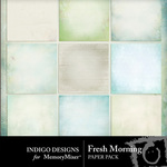 Fresh Morning Paper Pack-$3.99 (Indigo Designs)